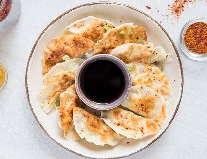Japanese Shrimp Gyoza