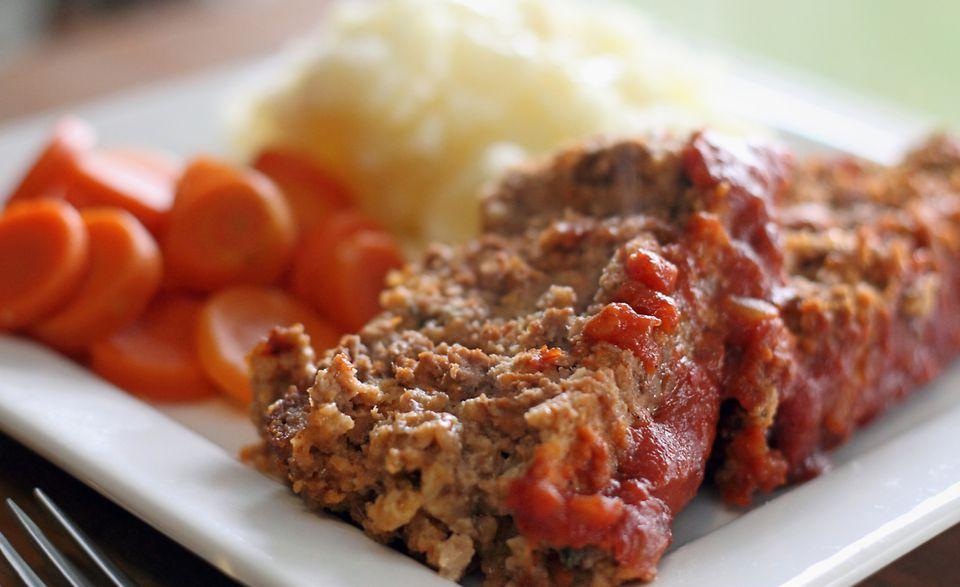 Meatloaf With Ketchup Topping