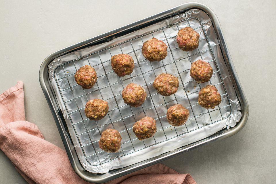 Broil meatballs