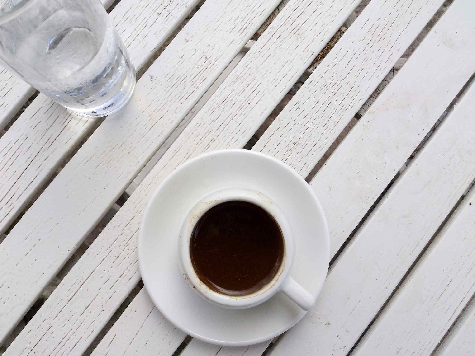 Greek coffee with water