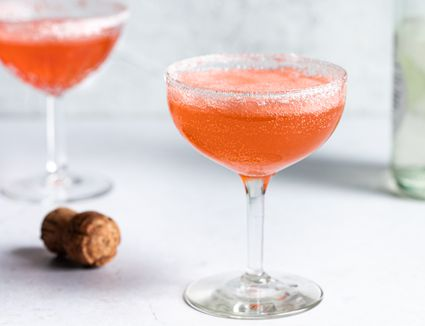 Strawberry Vodka Champagne Cocktail