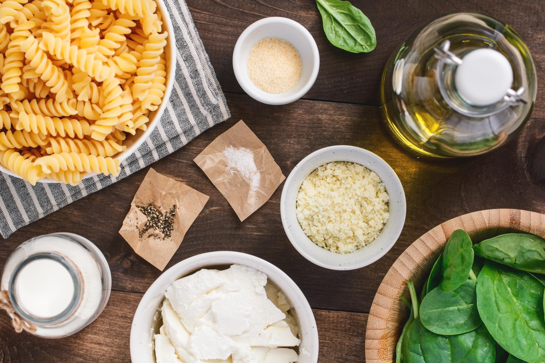 Vegetarian Pasta recipe ingredients
