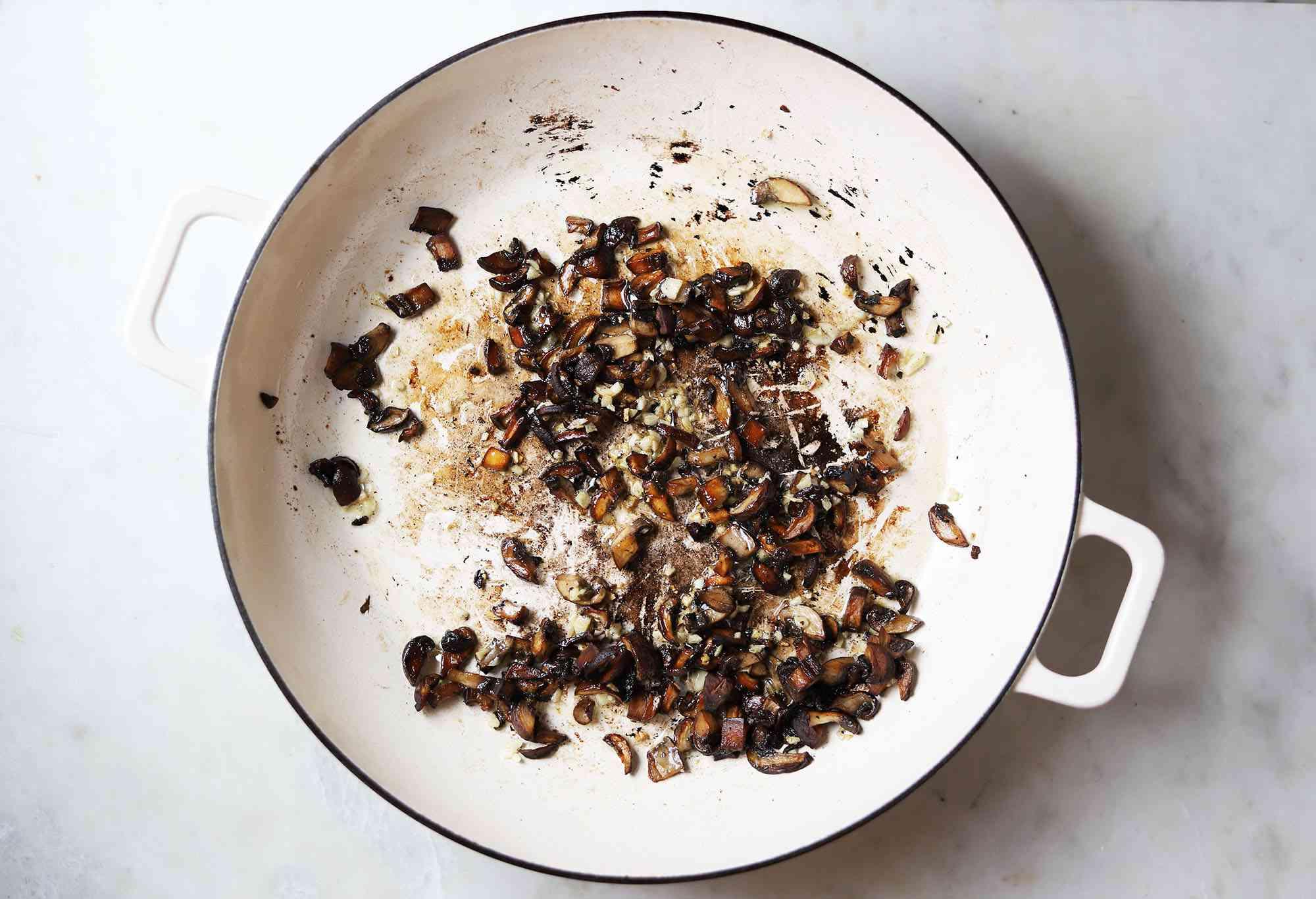 sauteed mushrooms and garlic