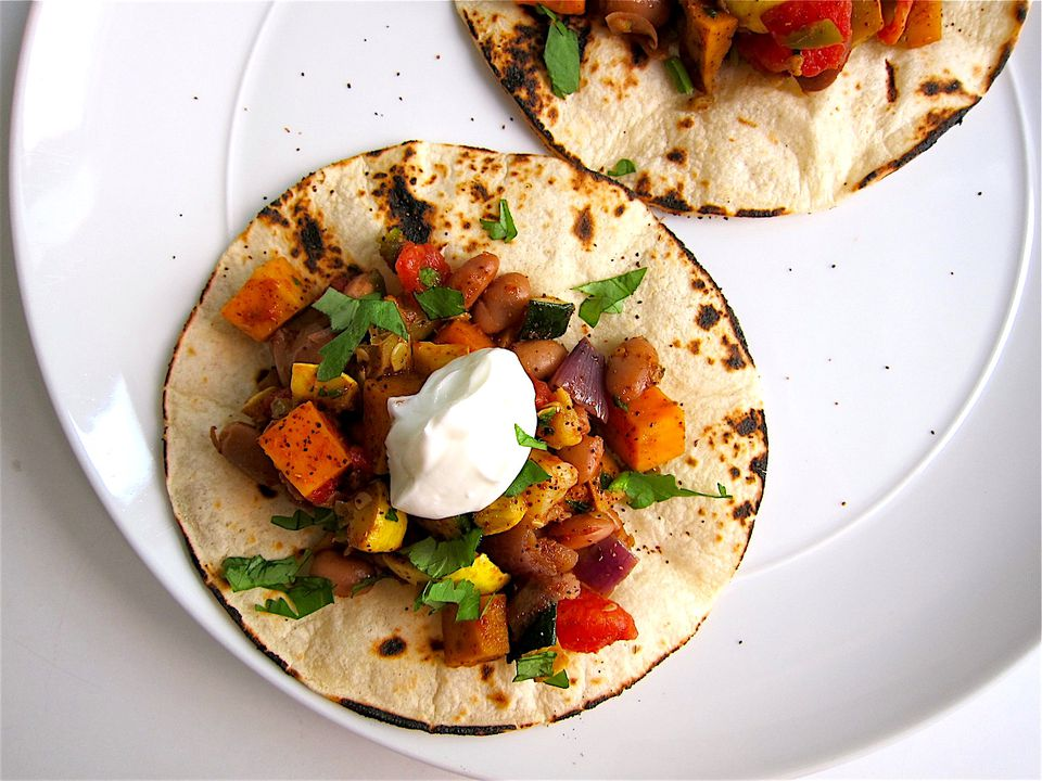 Chile de cocción lenta con condimento para tacos