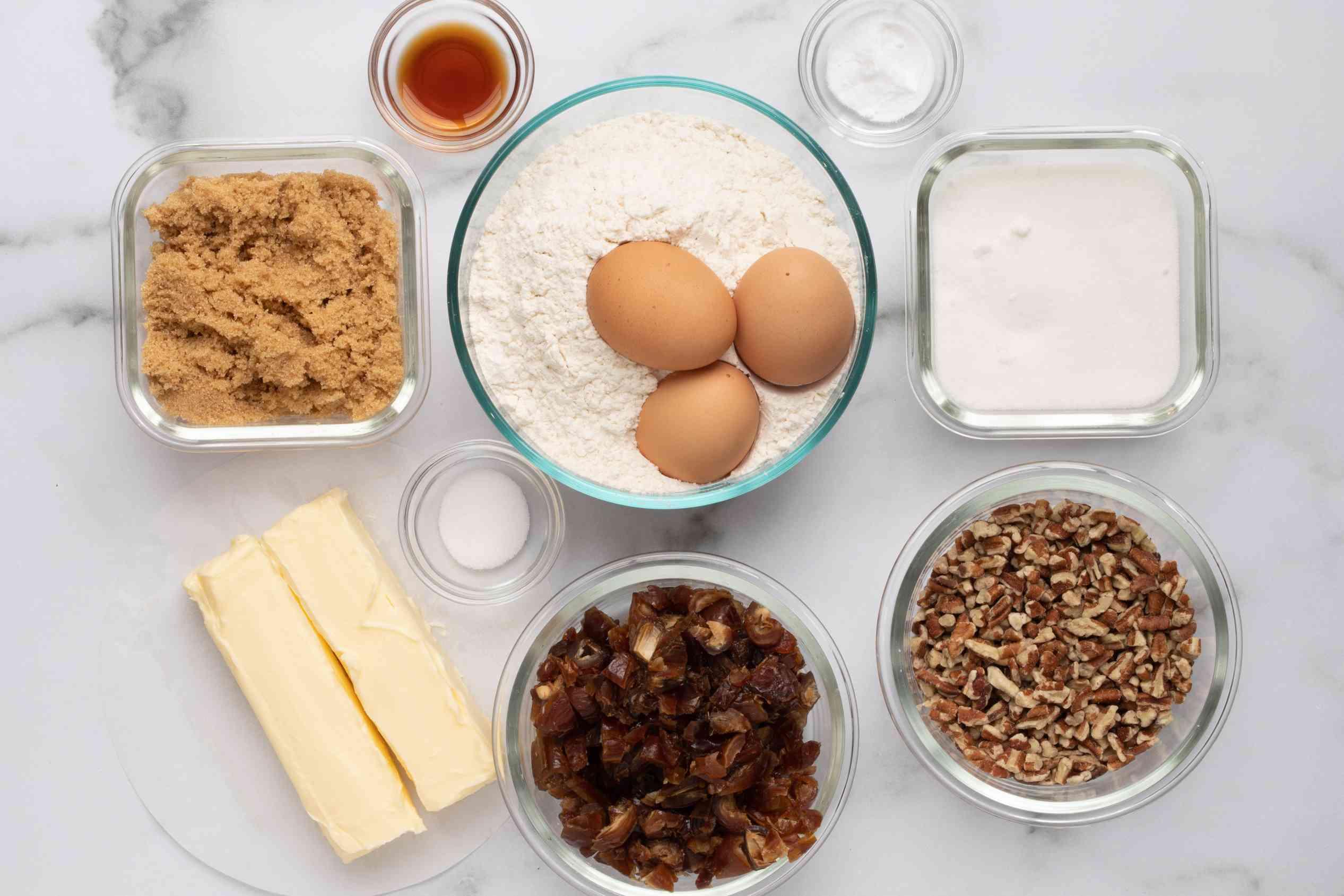 ingredients for date cookies