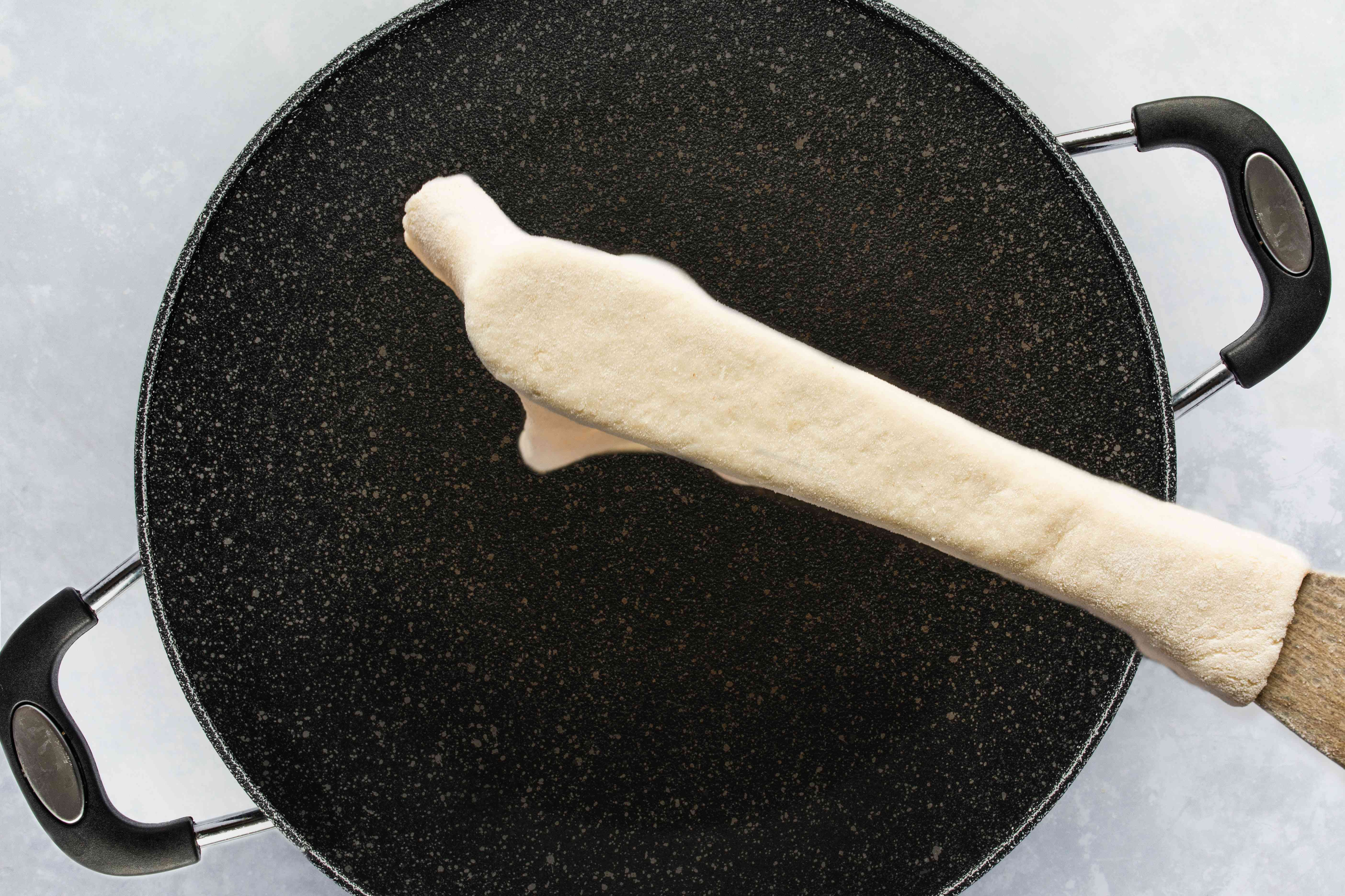 Transfer dough onto the griddle