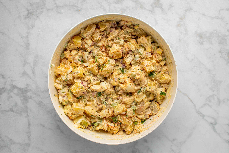 Instant Pot Potato Salad in a bowl