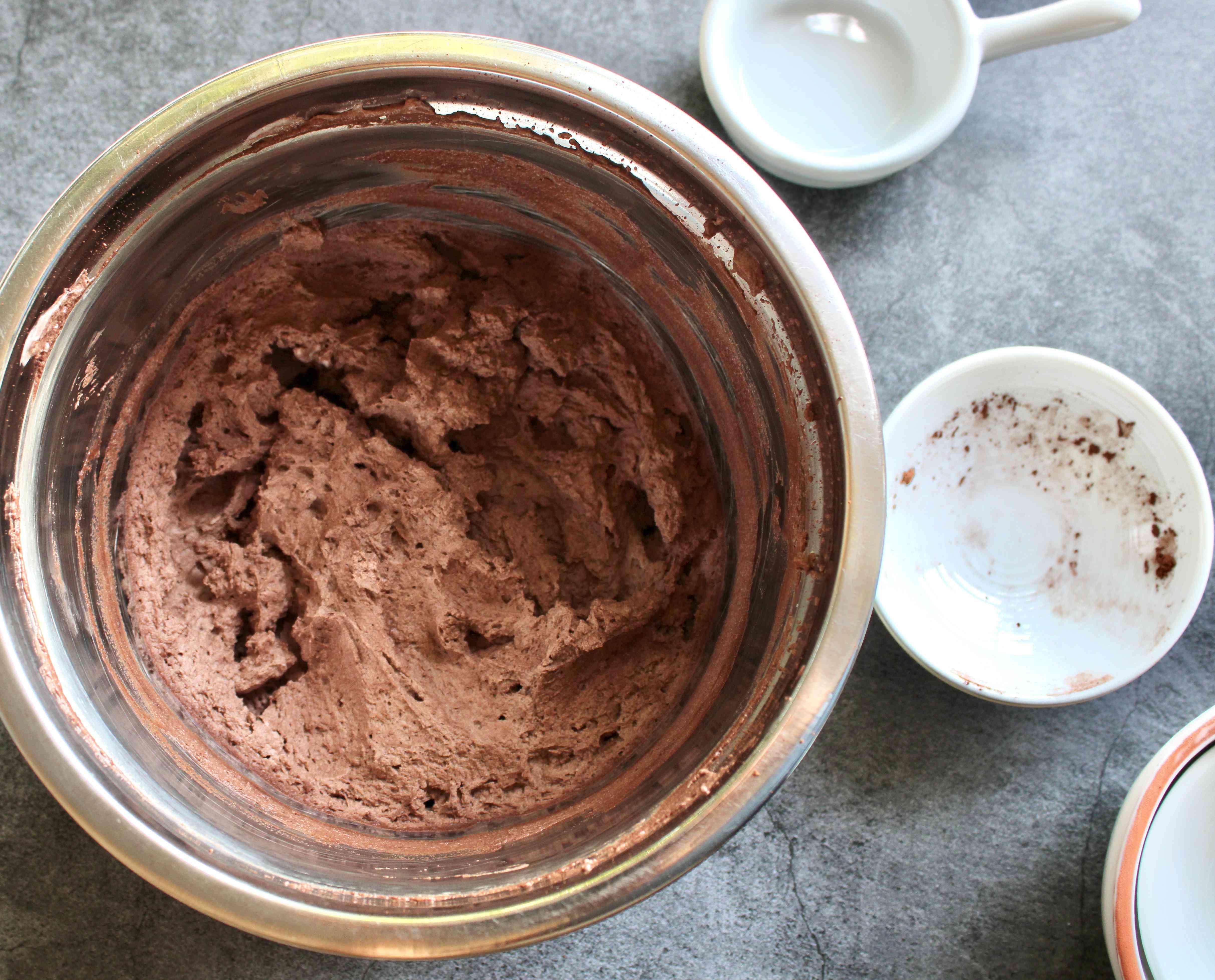 Add cocoa powder, stevia and salt