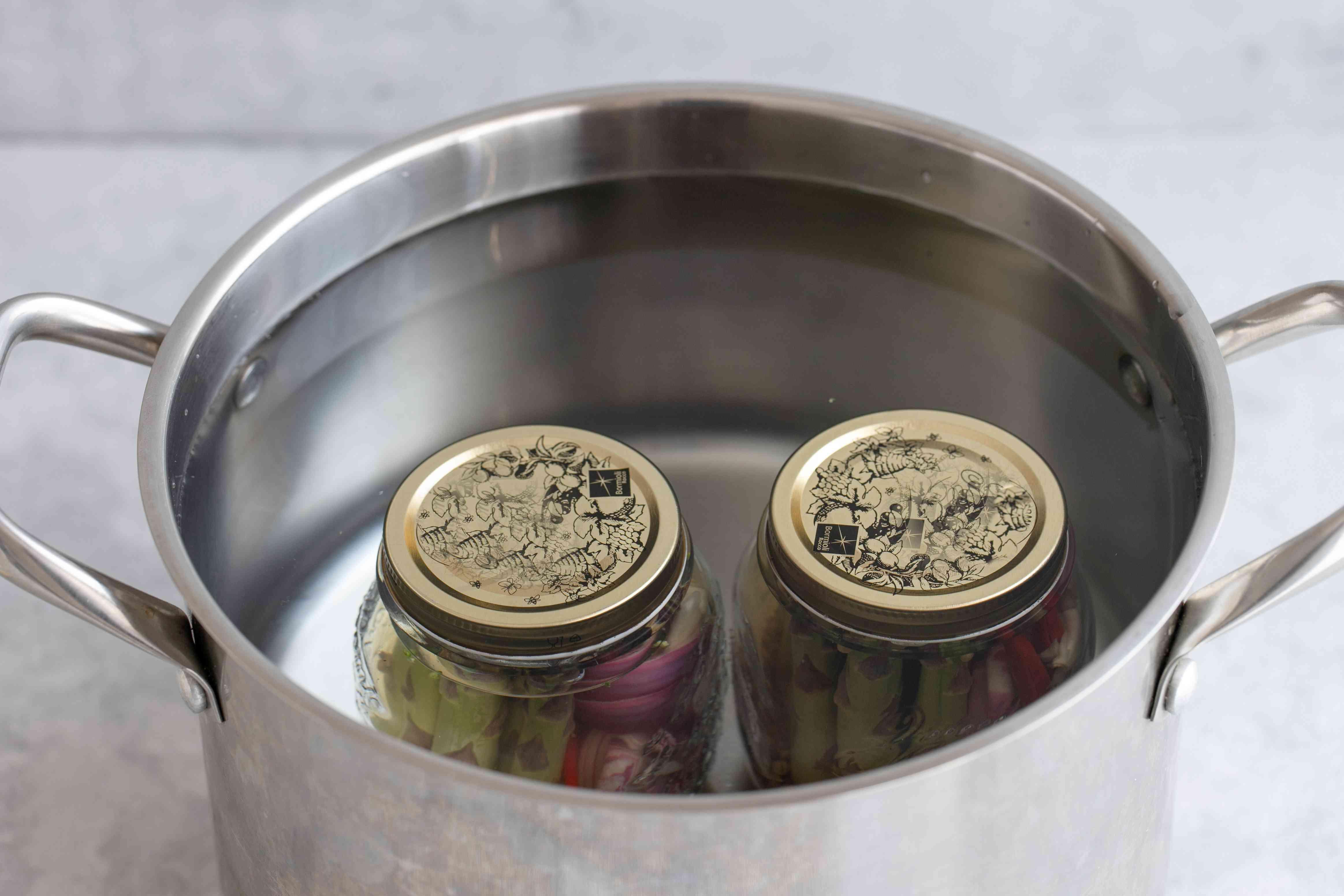 Jar of asparagus