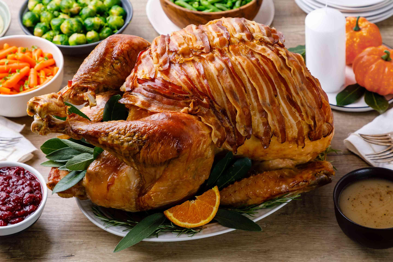 Perfect roast turkey with bacon recipe