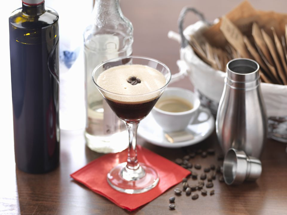 Traditional Italian drink, the espresso martini