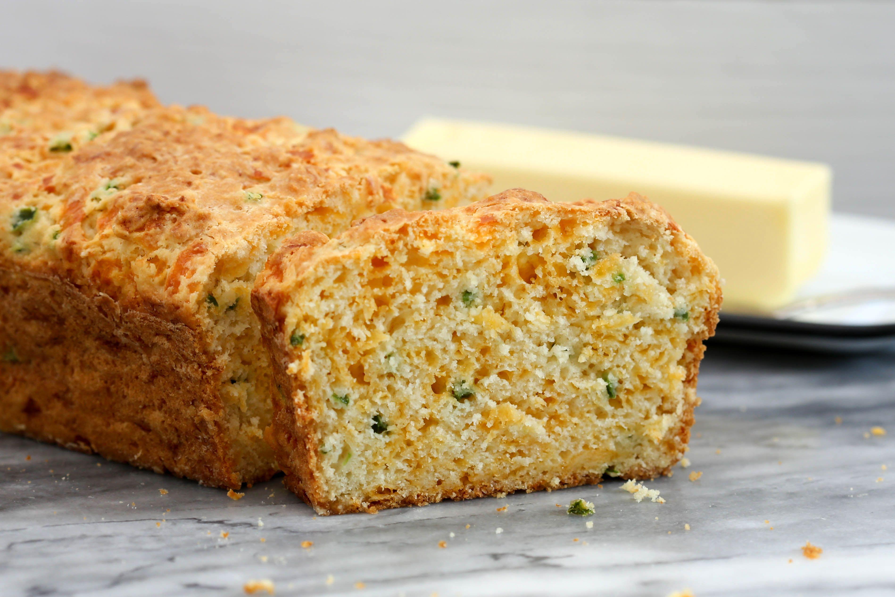 Jalapeno cheddar quick bread