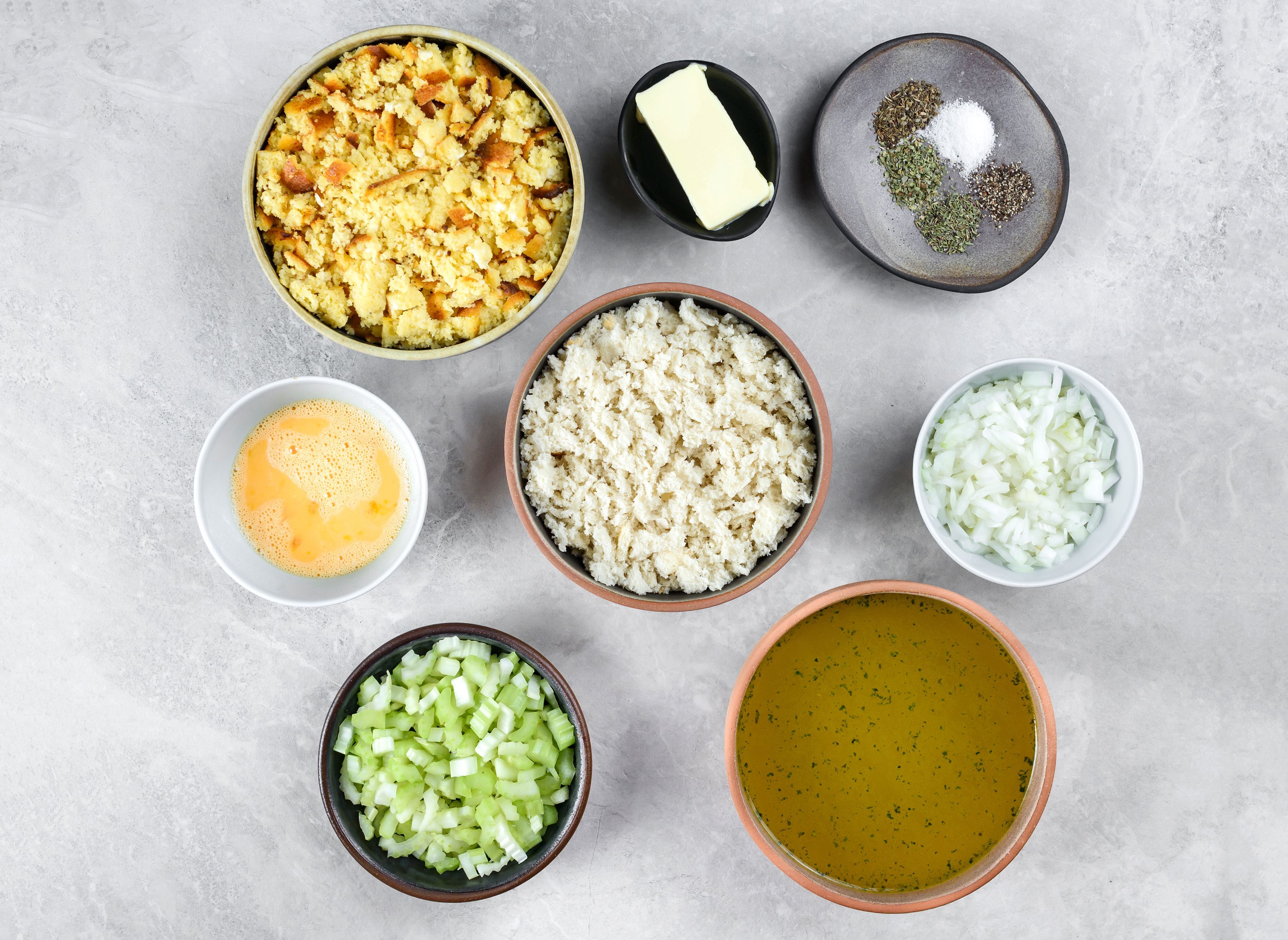 Cornbread Dressing Recipe ingredients