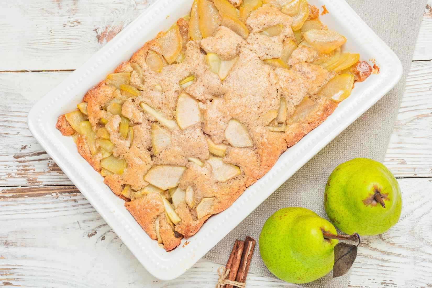 Baked pear cobbler