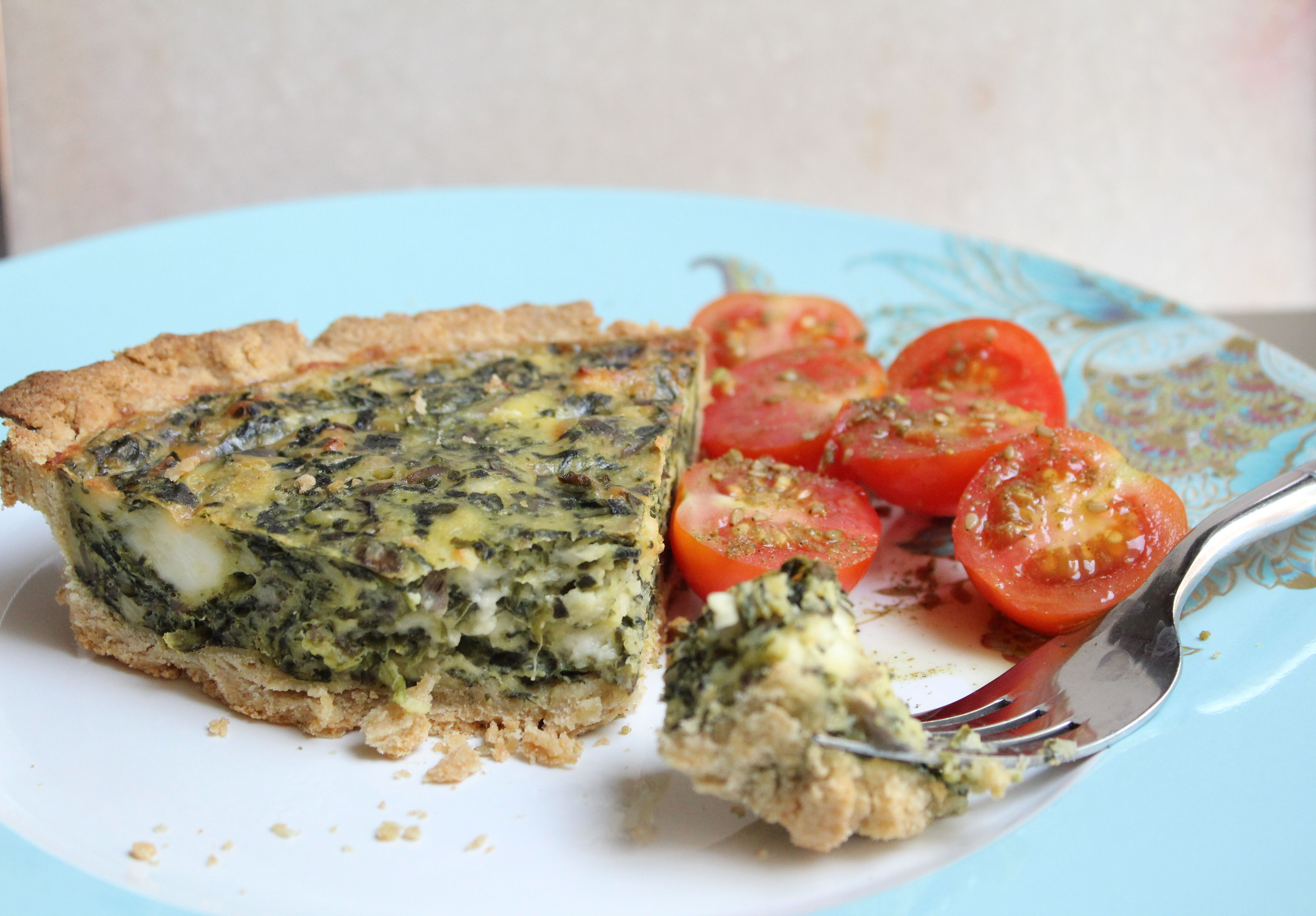 Spinach, Feta, and Mushroom Pie (Dairy)