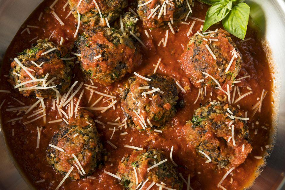 Organic Homemade Vegan Veggie Meatballs