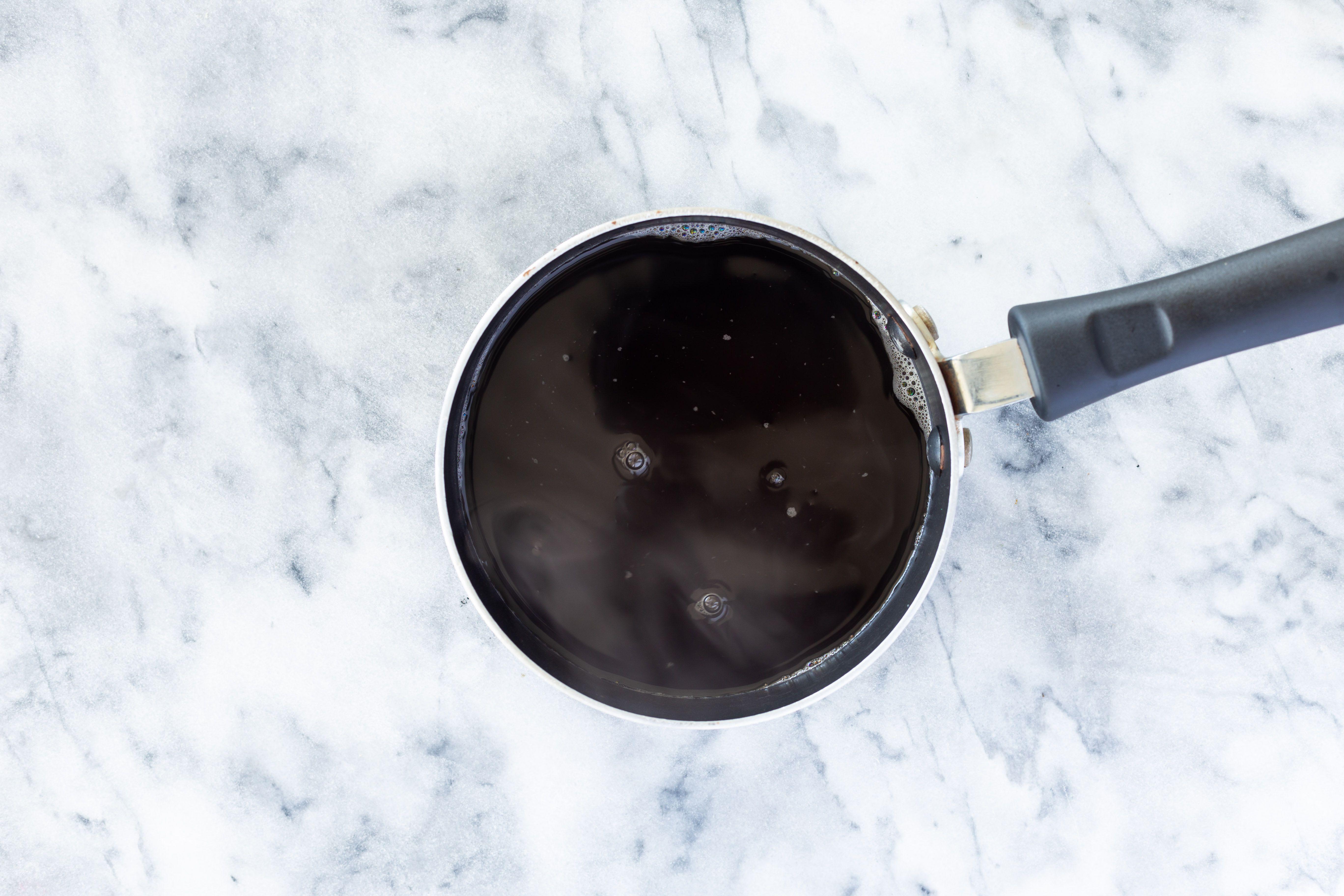 Brown sugar and water in a saucepan