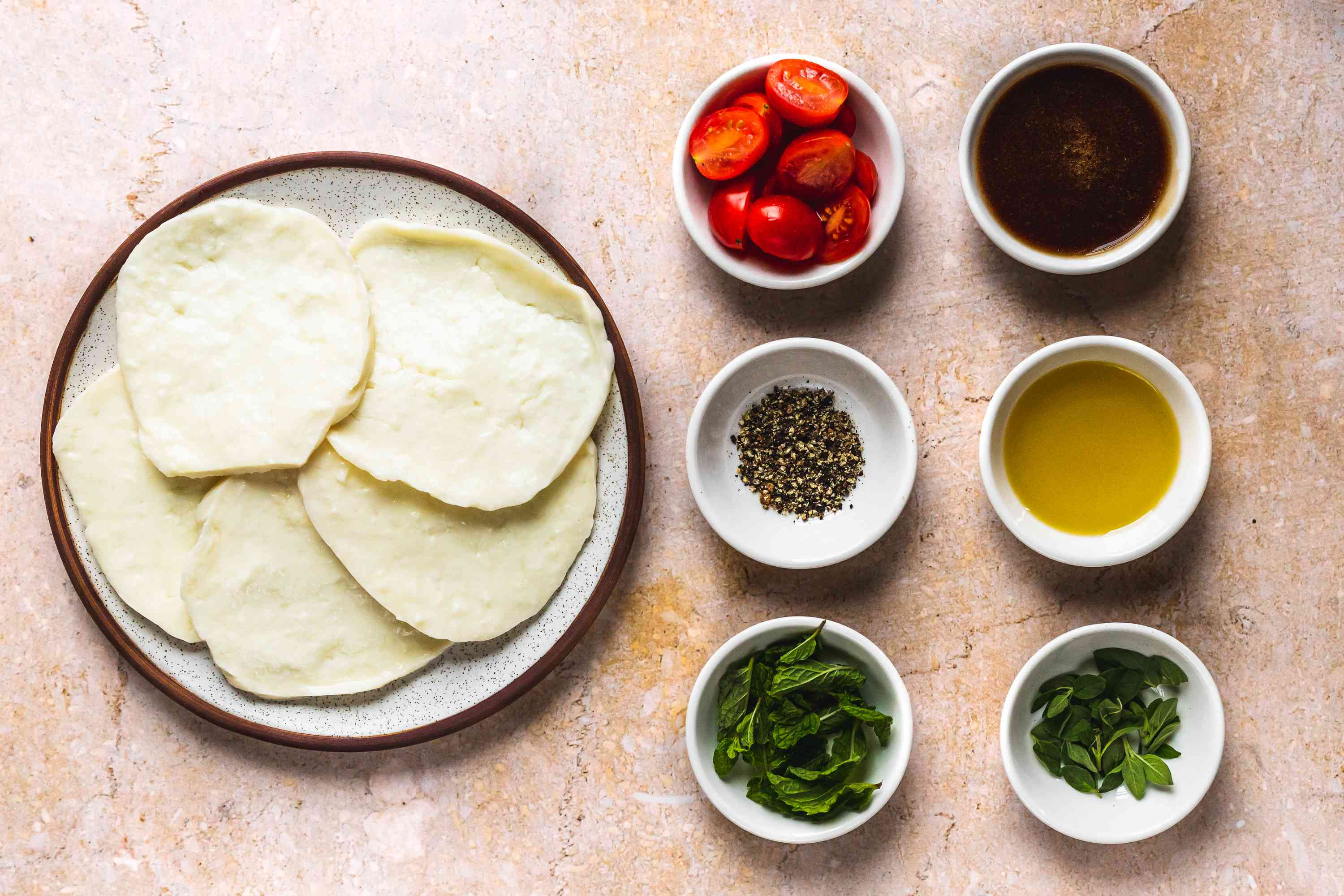 3-Minute Fried Halloumi Cheese Meze ingredients