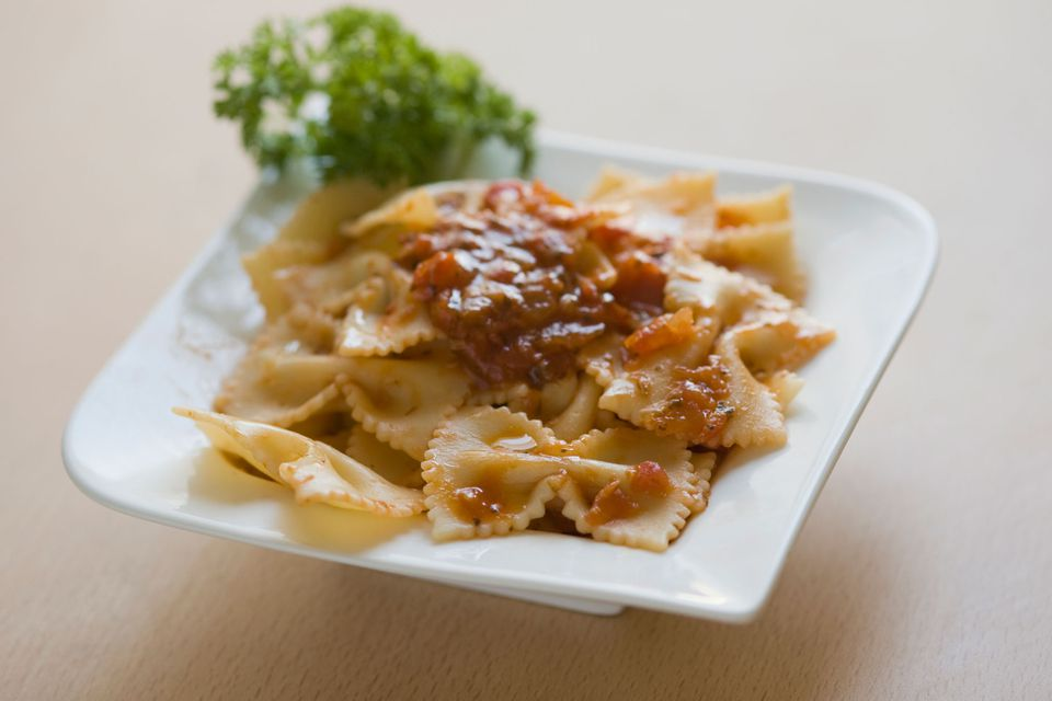 Bow Tie Pasta with Sauce