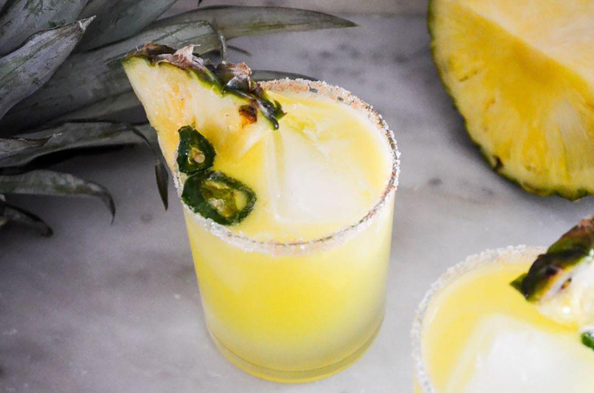 Pineapple and Jalapeno margarita