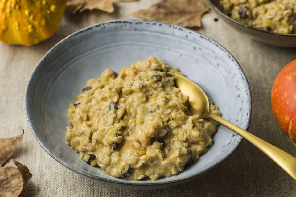 Low fat pumpkin oatmeal