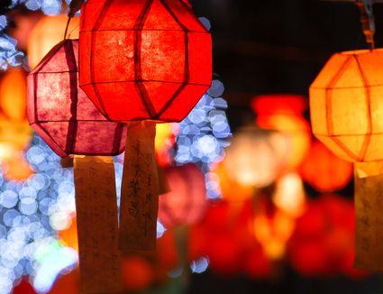 Korean New Year Festival lanterns