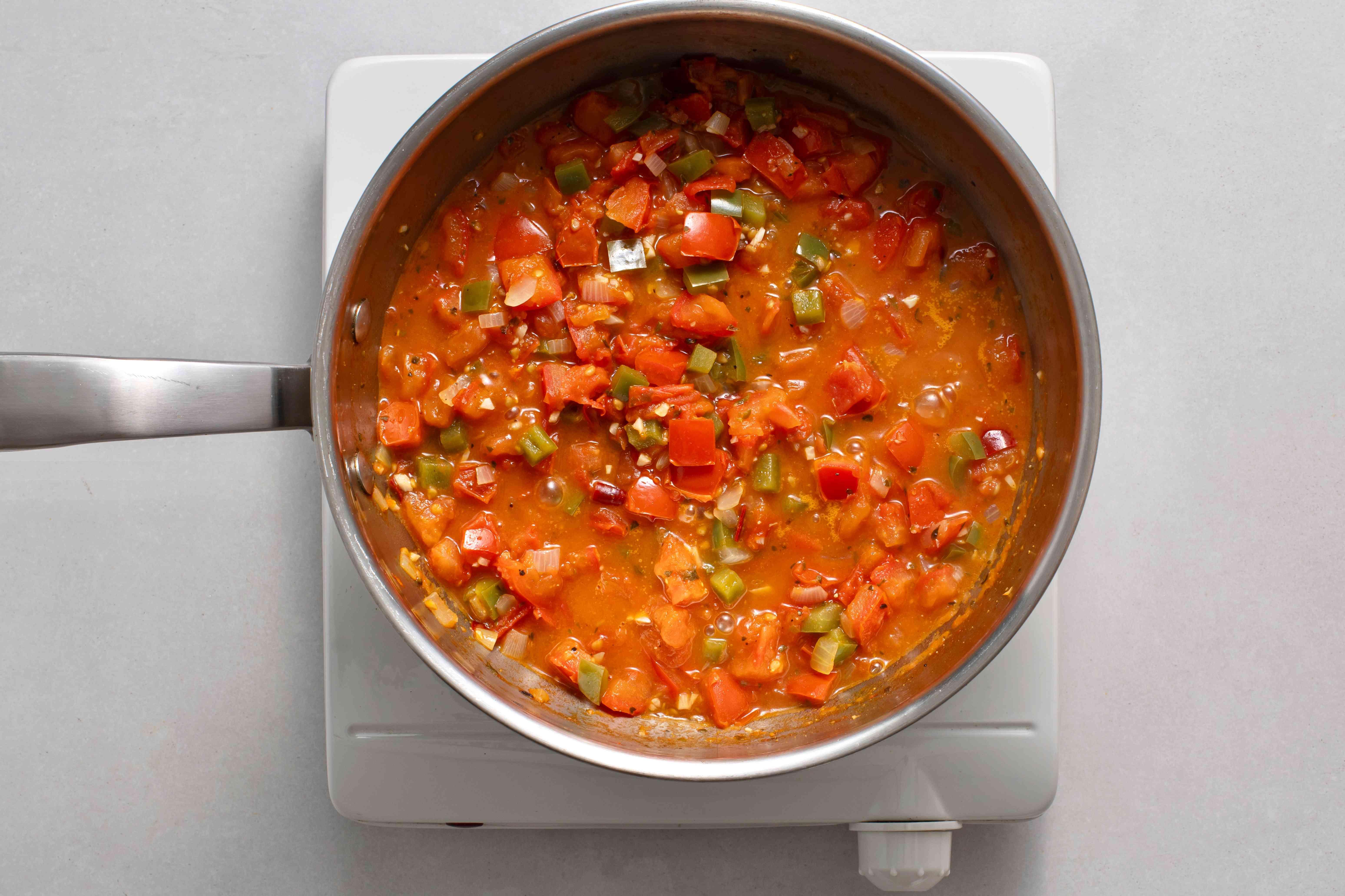 sauce in a saucepan