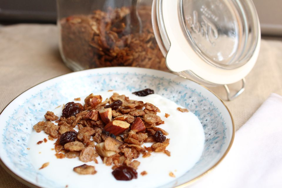Matzo Granola with Almonds and Raisins