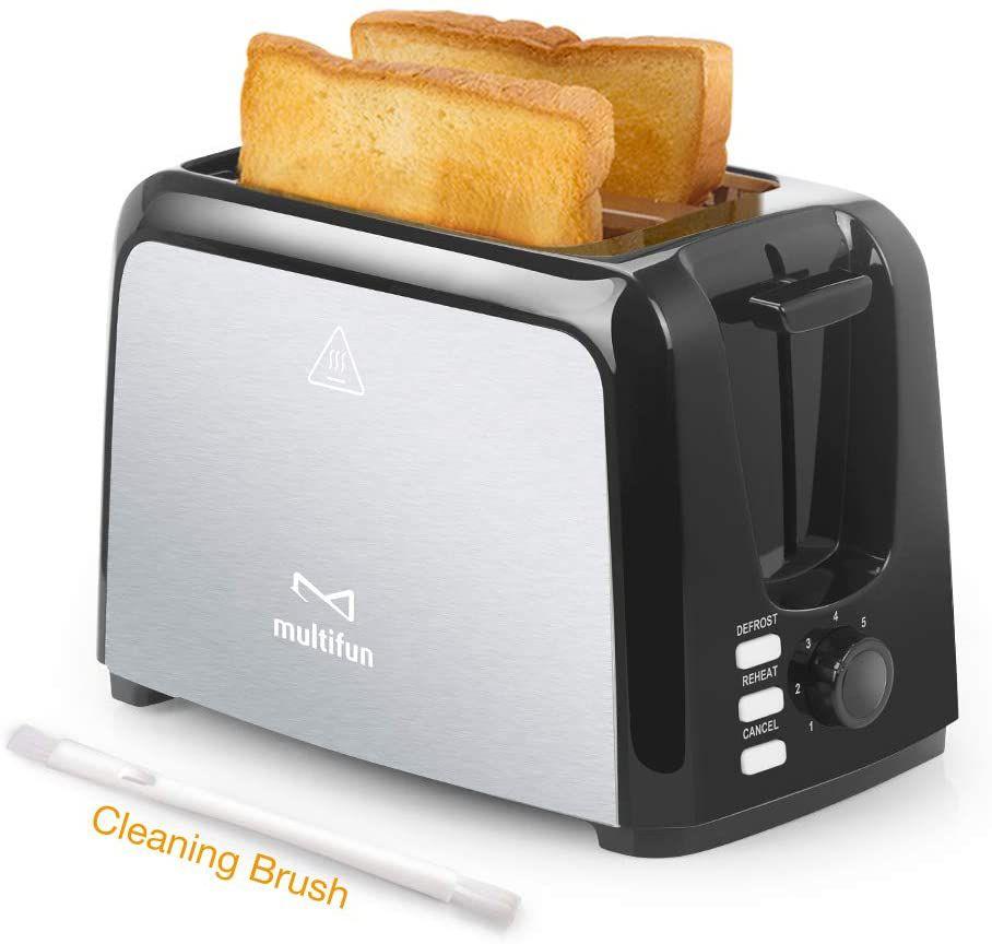 Multifun Stainless Steel 2-Slice Toaster