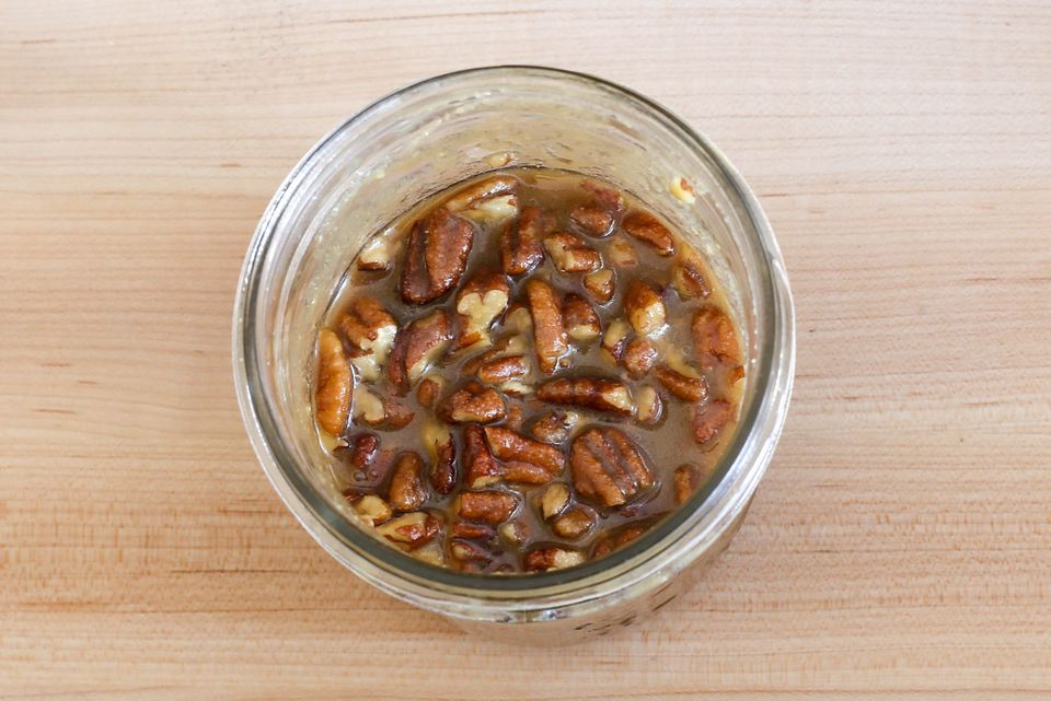 pecan praline sauce in a jar