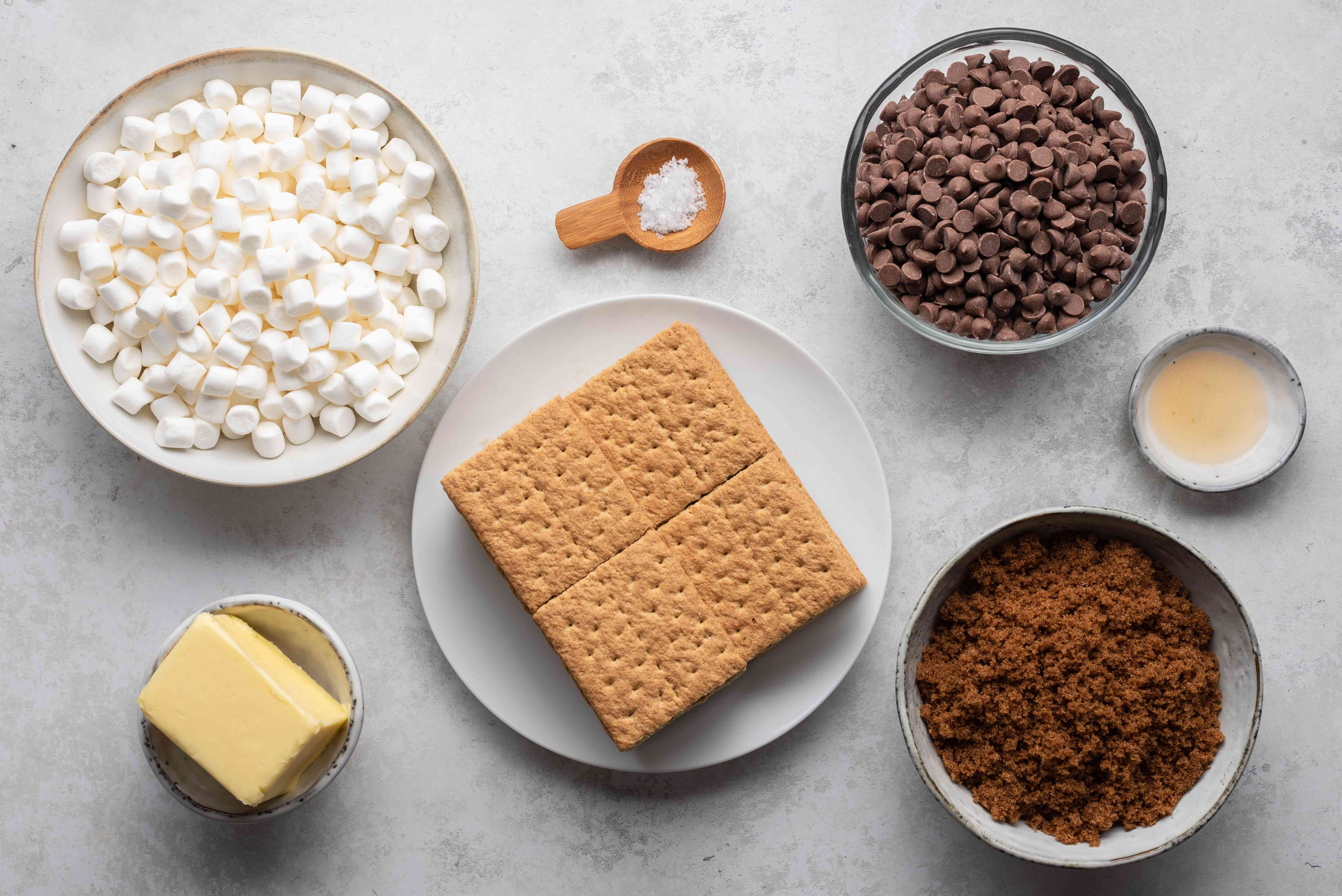 S'mores Toffee Bark ingredients