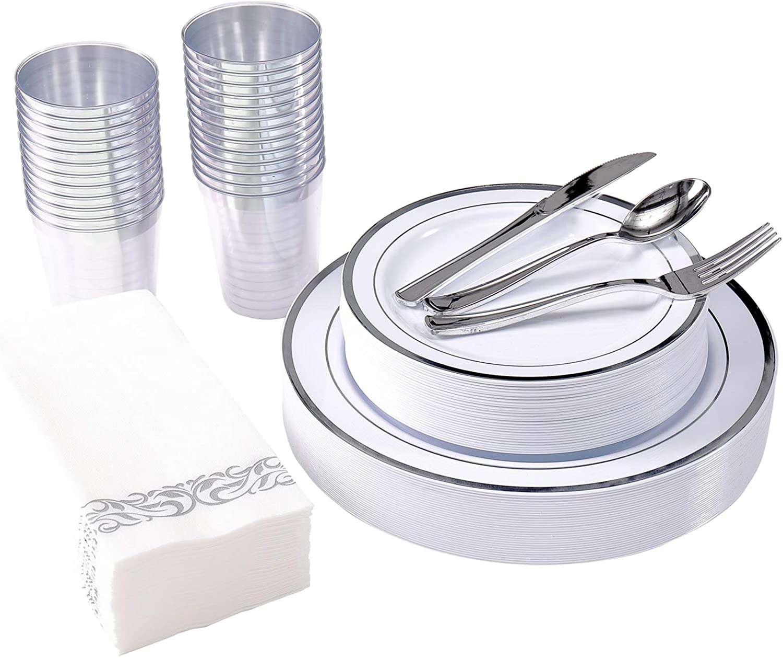 Focus Line 175-Piece Silver Dinnerware Set