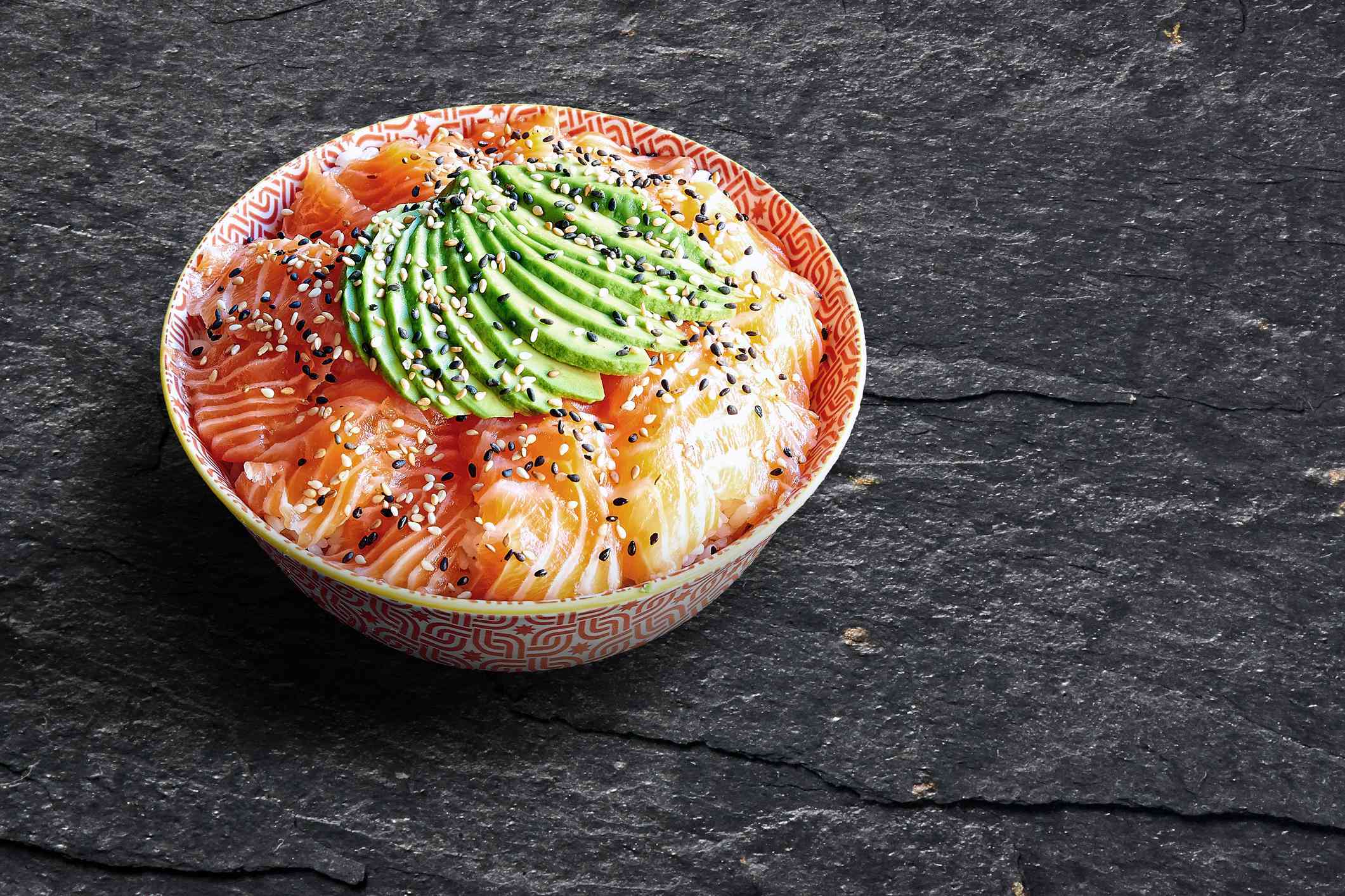 Salmon chirashi bowl