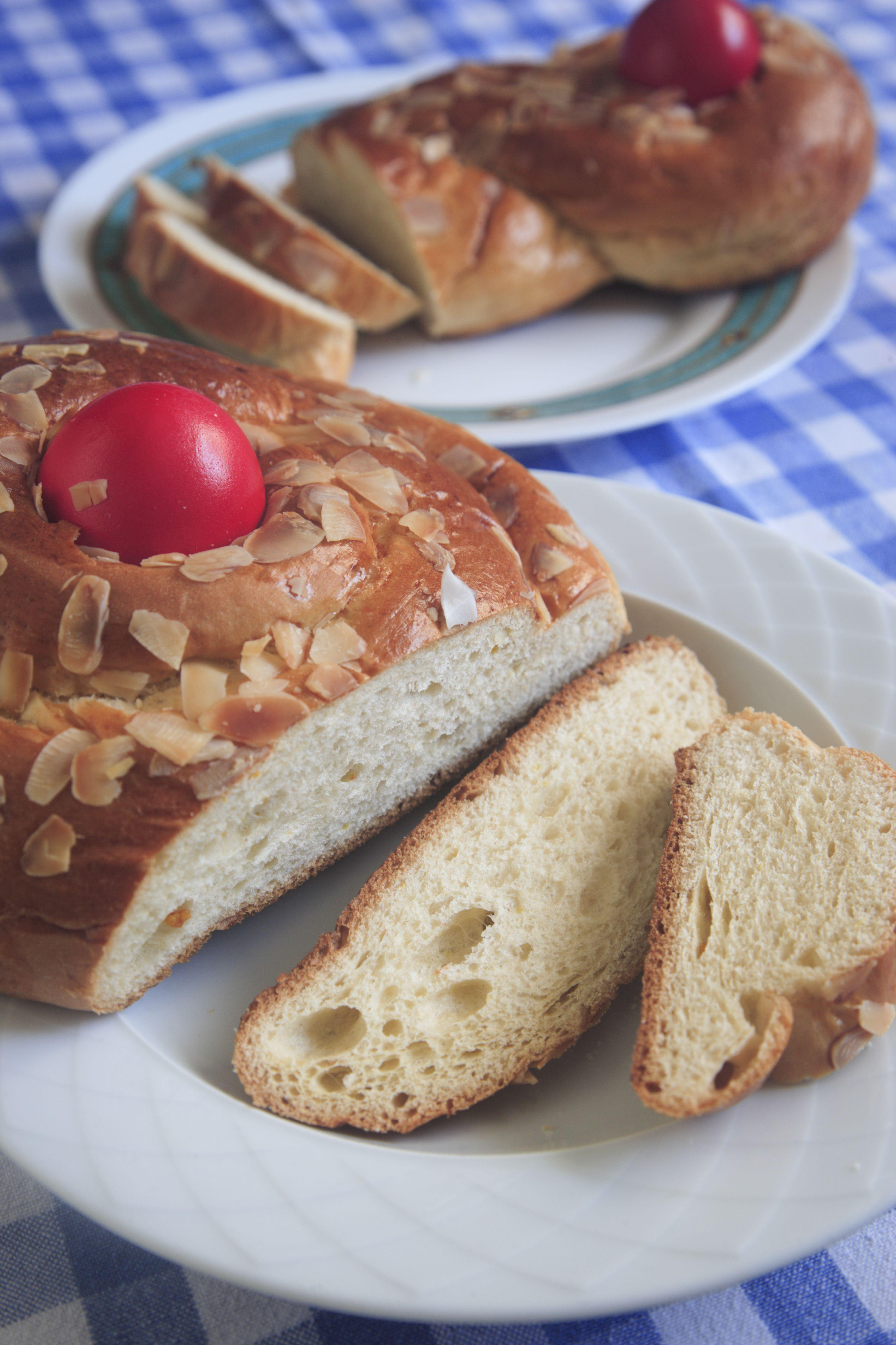 Greek Traditional Easter Bread,Tsoureki