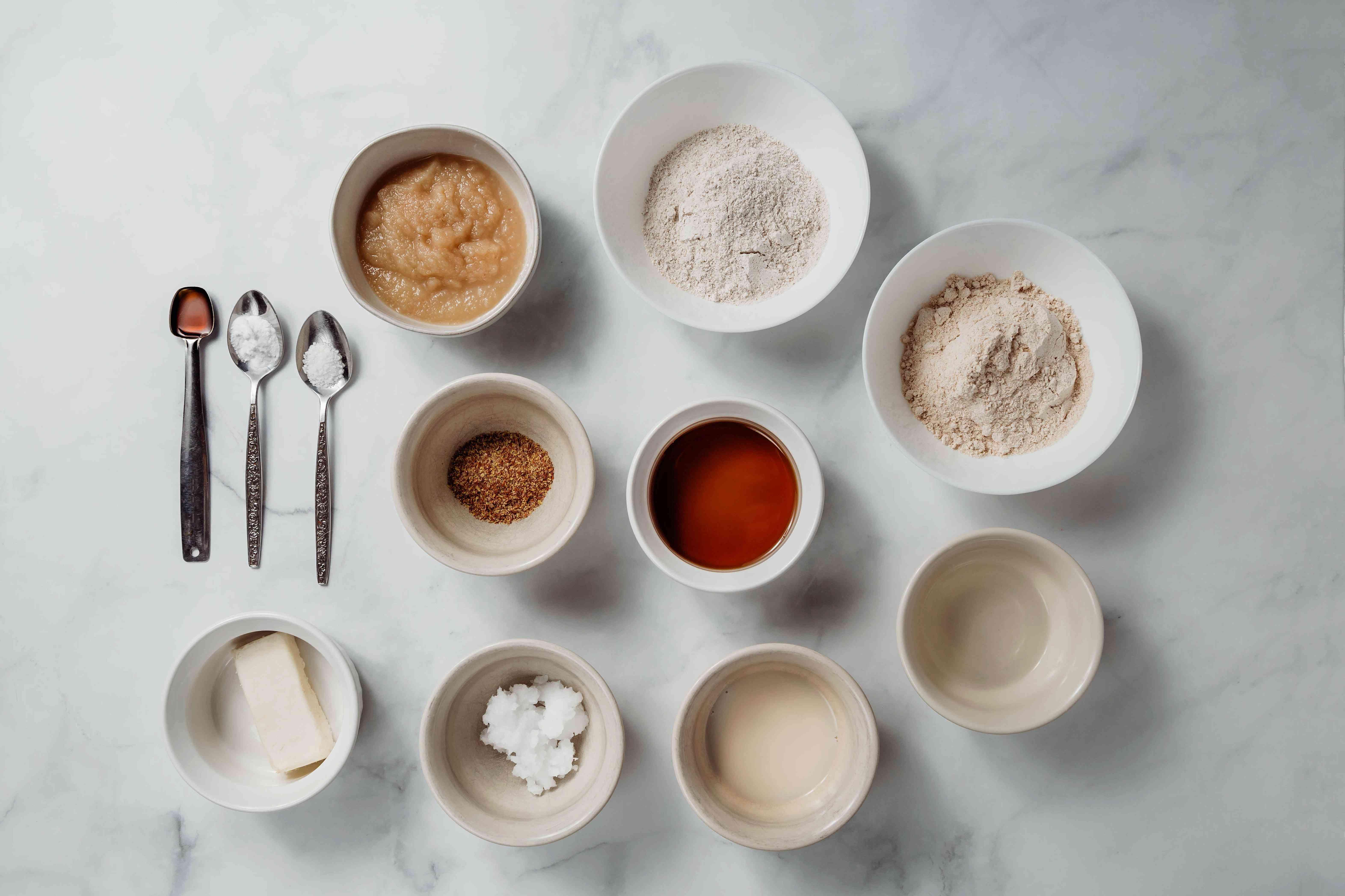 Basic Recipe for Vegan Muffins ingredients