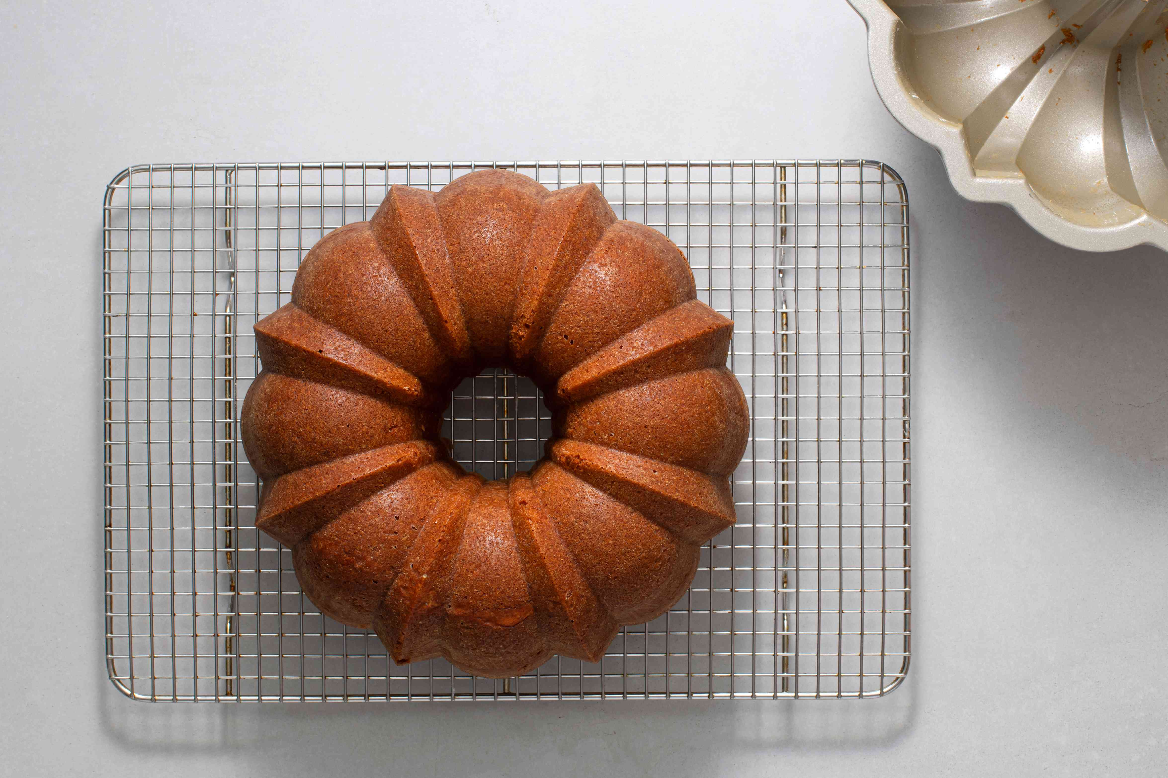 cake on a cooling rack