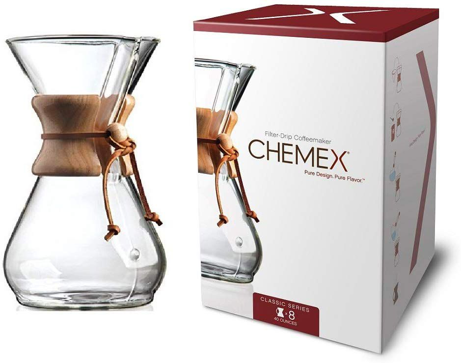Chemex Classic 8-Cup Pour-Over Glass Coffeemaker