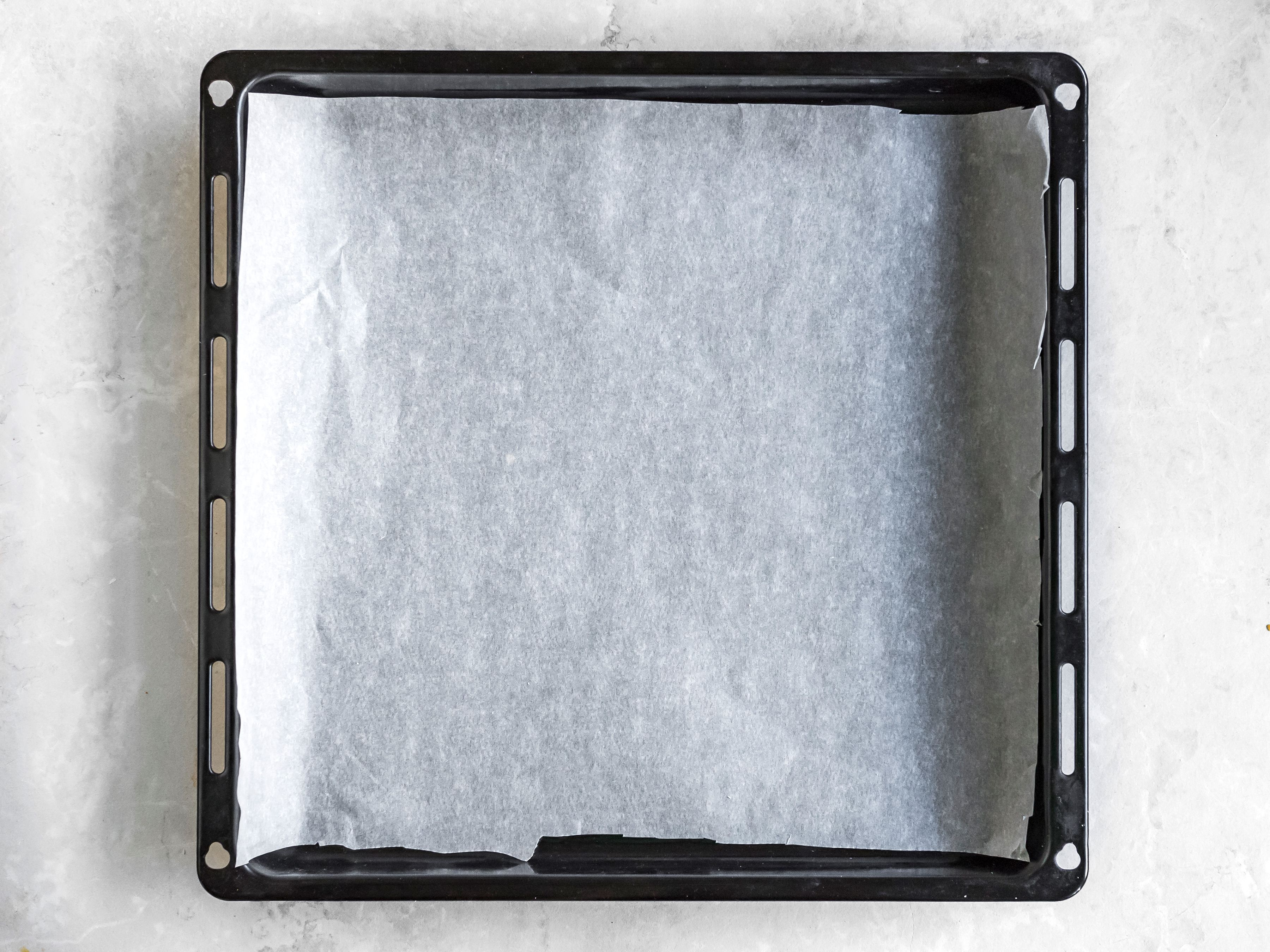 Line a baking sheet with parchment