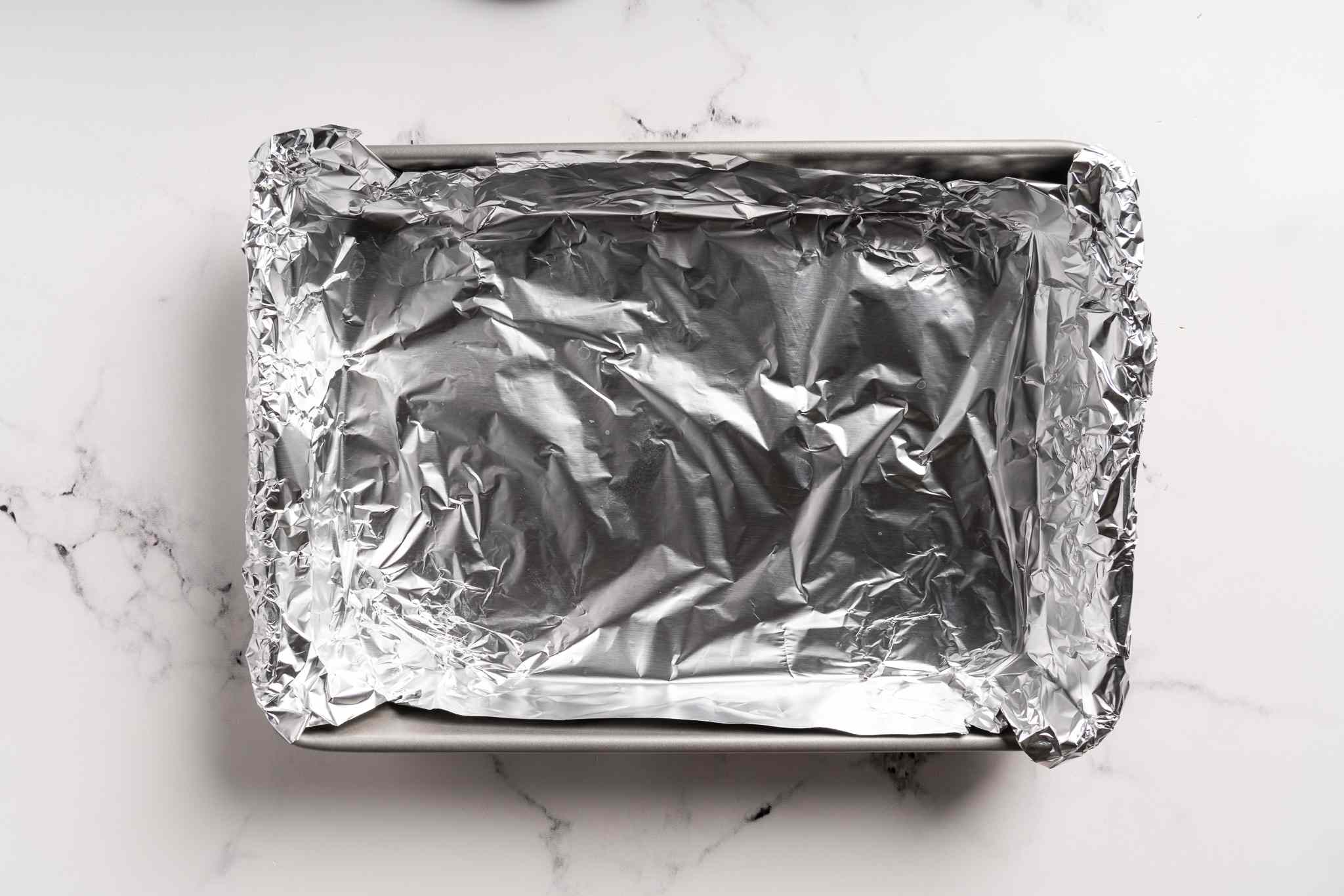 aluminum foil lined baking dish