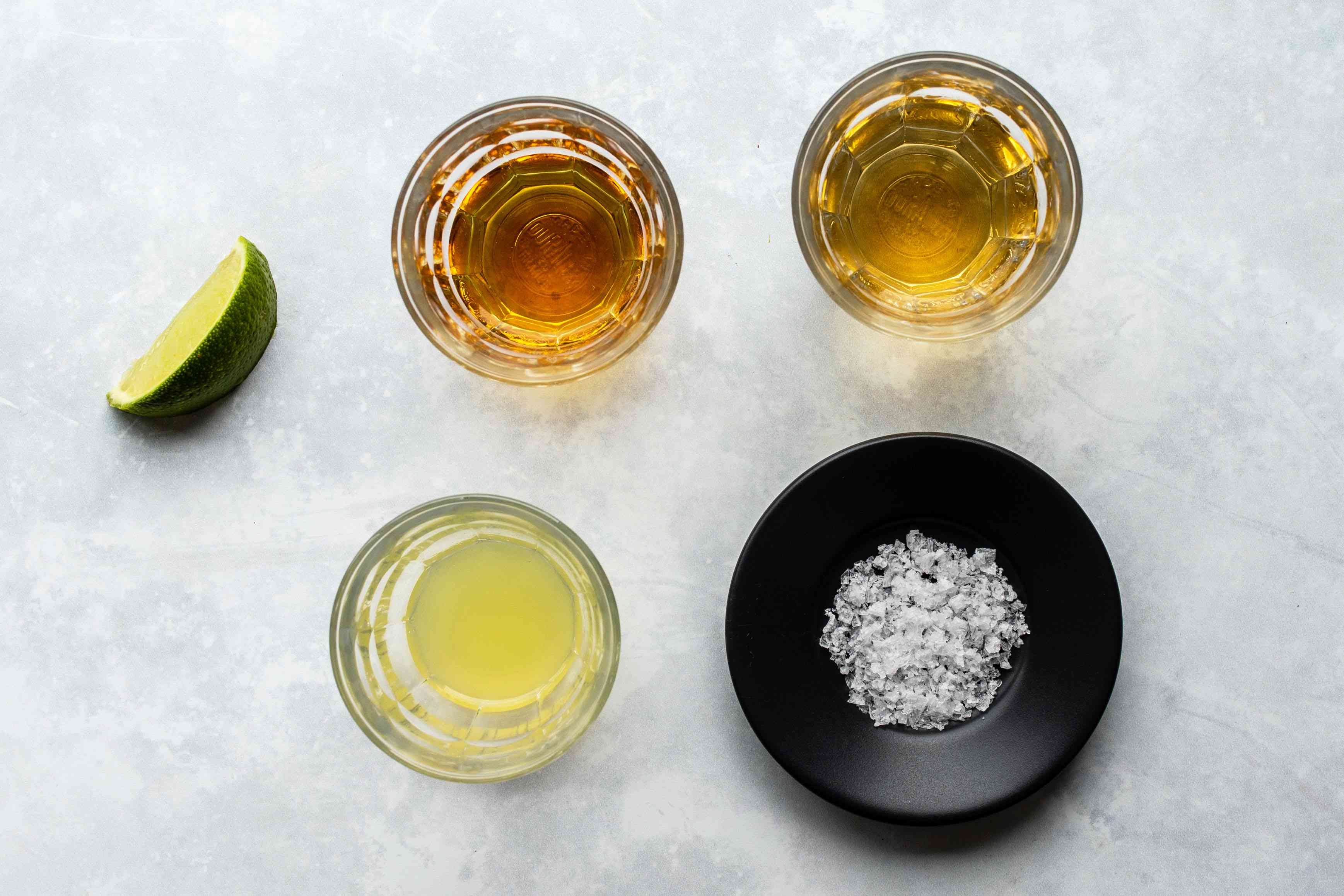 Ingredients for a Cadillac margarita