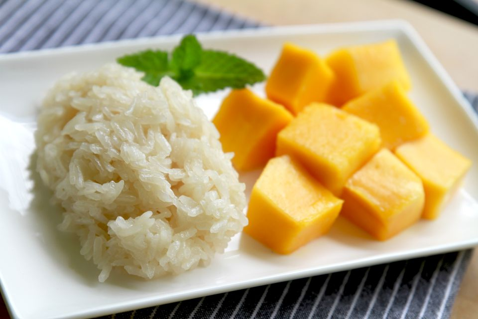 Sticky rice and Mango, Thai dessert