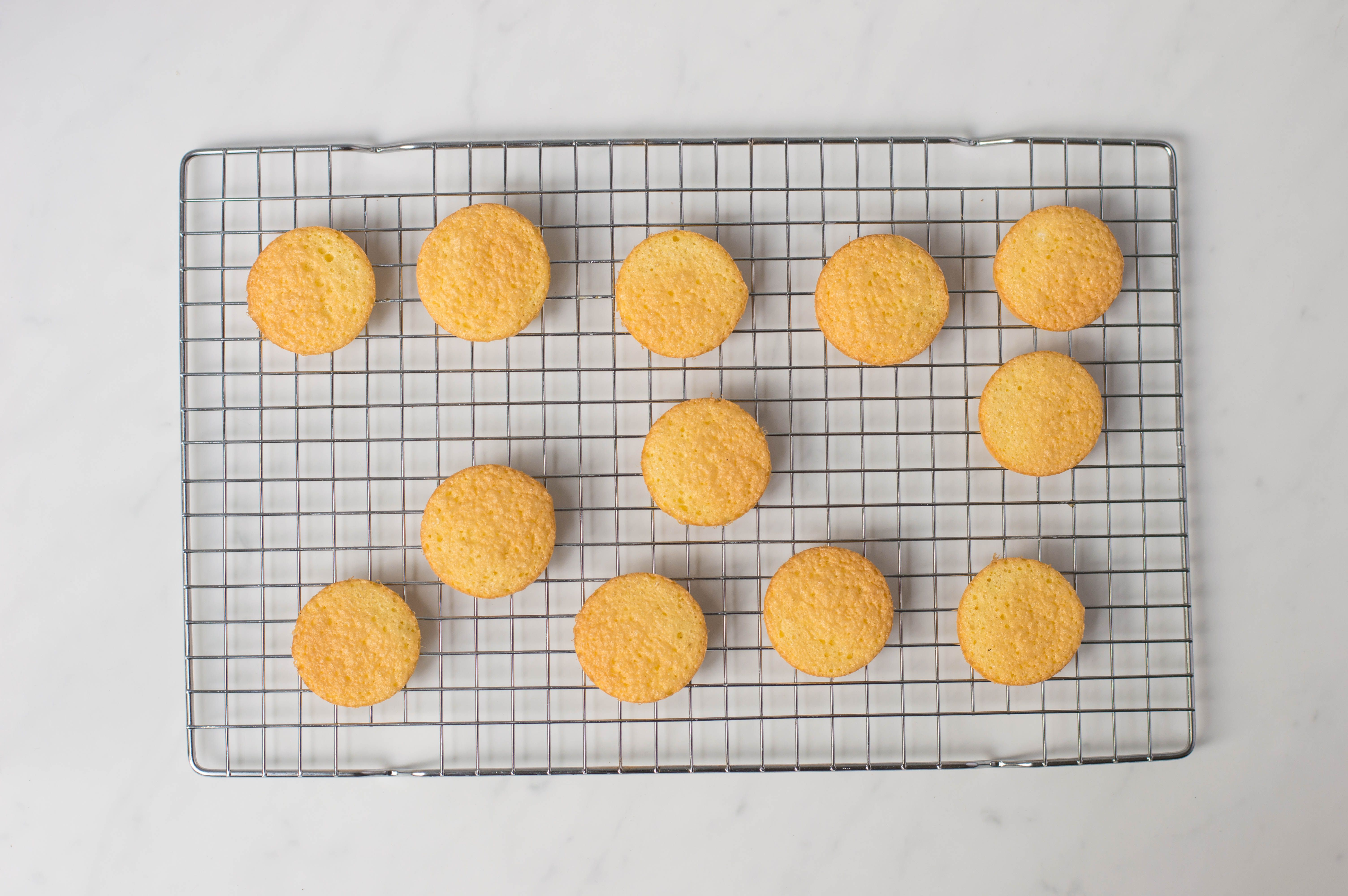 place jaffa cakes on wire rack to cool