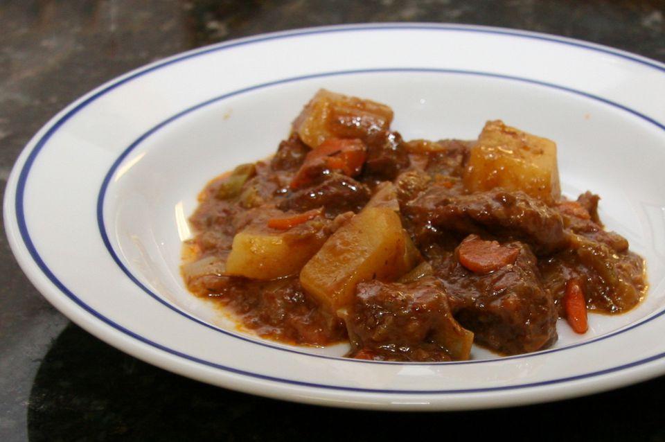 round steak and potatoes