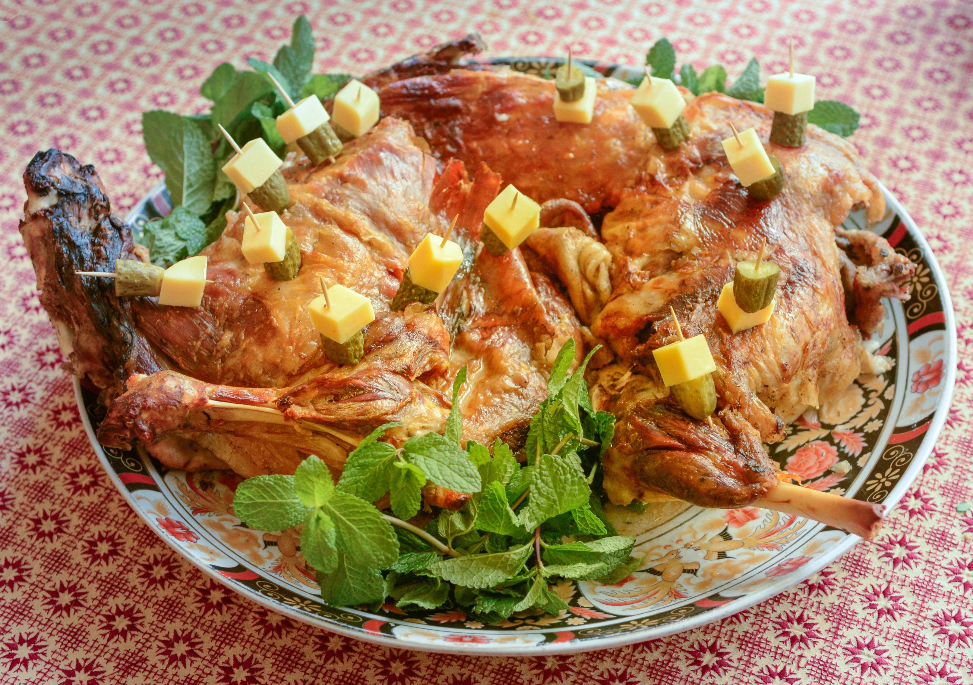 Moroccan roasted lamb
