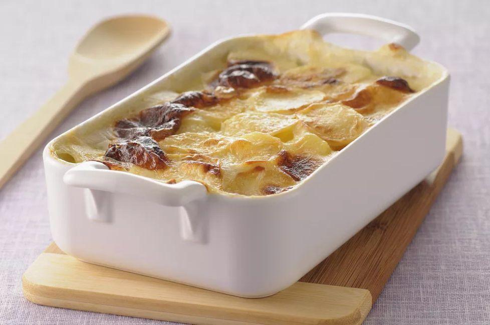 Potato Gratin With Cheese and Bacon