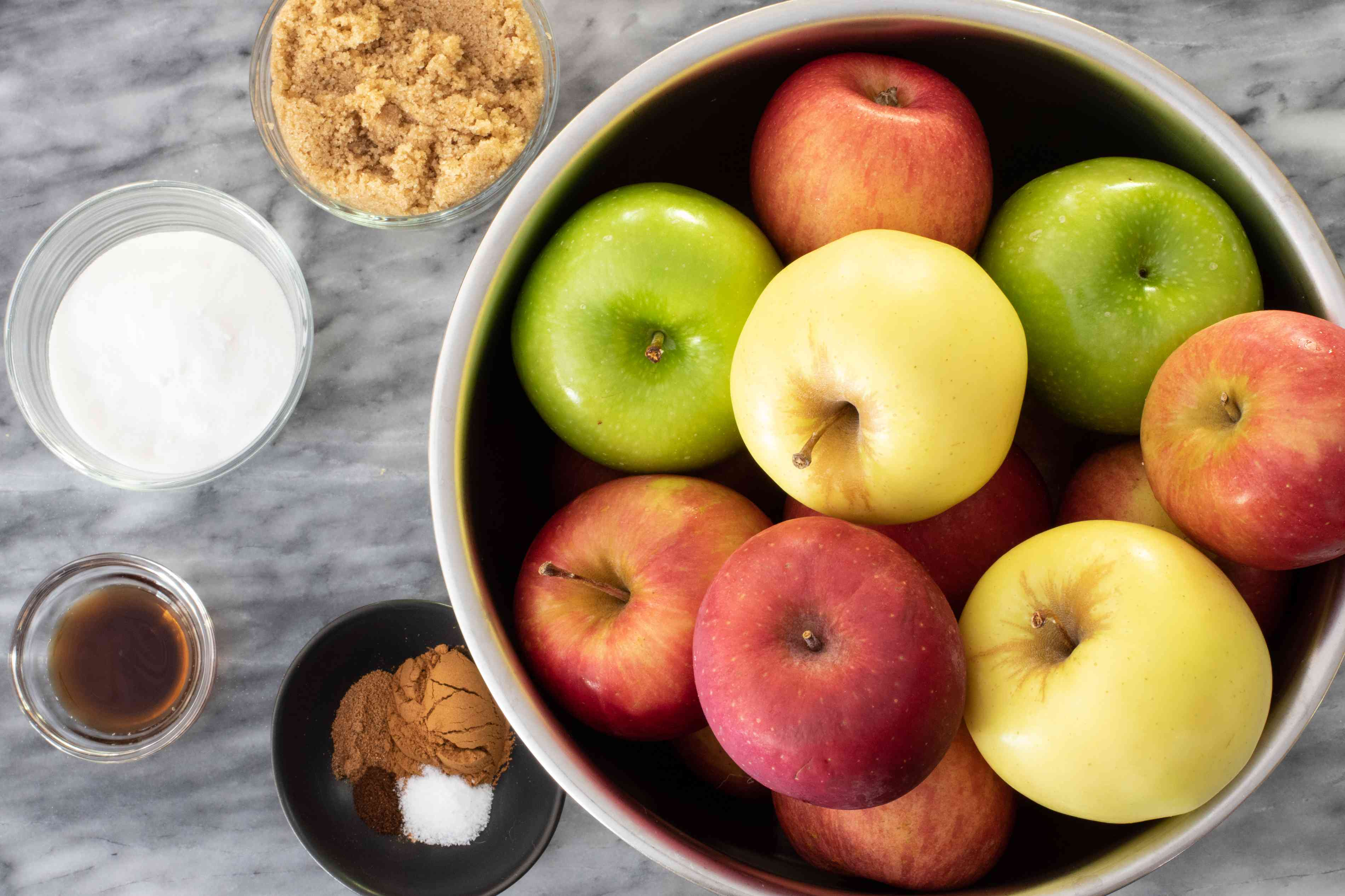 ingredients for slow cooker apple butter