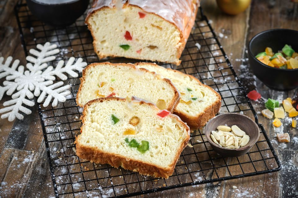 Christmas stollen sweet bread recipe