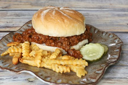 Sloppy Joe Sandwiches With Ground Beef and Sausage