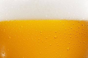 Detail view of a pilsner in a glass