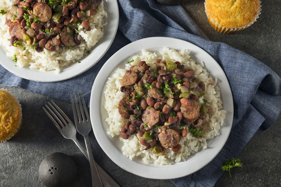 Southern Red Beans and Rice With Andouille Sausage